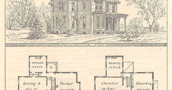Gothic house plans with turrets floorplans pinterest for Victorian house plans with turrets