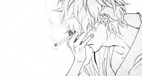 Regret Smoke Drawing Anime Boy Sketch Anime Drawings Boy