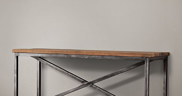 Salvaged boatwood console restoration hardware family room pinterest consoles - Restoration hardware entry table ...