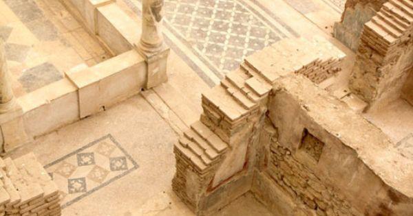 Floor tiles in Ephesus. Ephesus was one of the 12 cities of