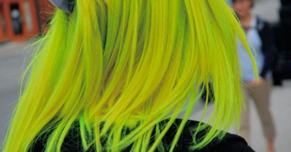 Electric Banana And Electric Lizard Make Beautiful Babies Neon Hair Yellow Hair Green Hair