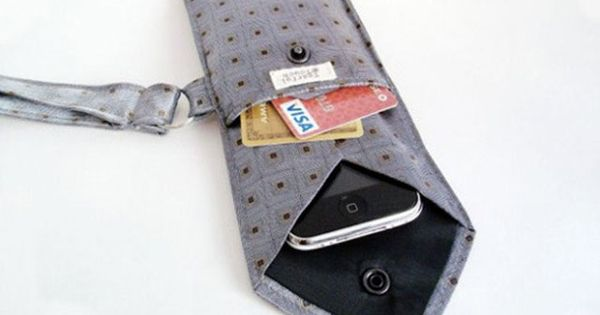 Use an old tie for a phone cover.