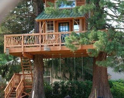 30 evocadoras casas de madera en el rbol madera casas - Casas ecologicas de madera ...