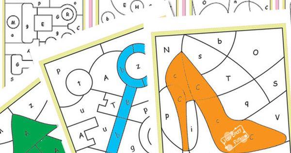 Color By Letters Alphabet Shapes