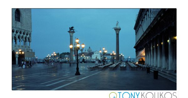 Sepia Venice Piazza San Marco Romance Lights Evening Columns Courtyard Bistro Tables Chairs Pillars Churc Travel Photography Travel Beautiful Places