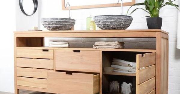 Pour acheter votre meuble salle de bain en teck serena for Acheter meuble salle de bain pas cher