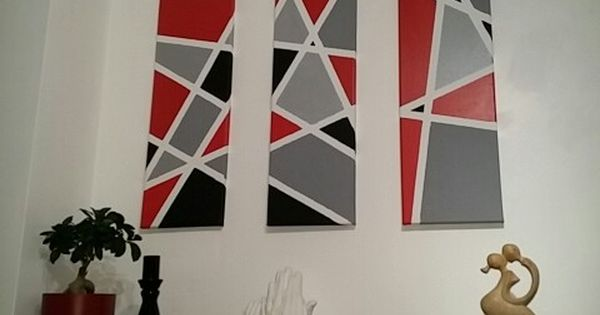Diy Geometric Canvas Art Made For Our Kitchen Wall Using