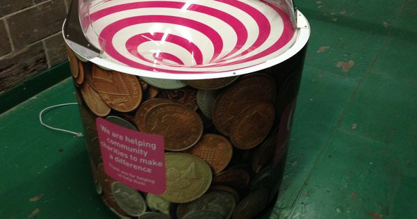 Nice graphic wrap on an interactive donation box ...