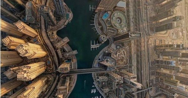 Aerial view of Dubai City Beautiful Places Photography