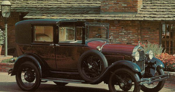 1929 Ford Model A Town Car Postcard Ford Models Old American