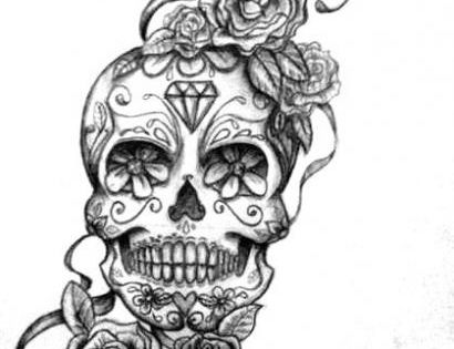 Tattoo Ideas, Sugar Skull Tattoo, Skull Tattoos, Diamonds, Tattoo Sketch, Tattoo Artists,