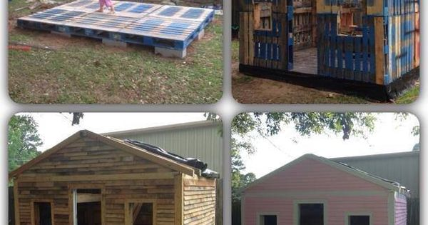 Neat idea for kids or a shed houses pinterest for Building a wendy house from pallets