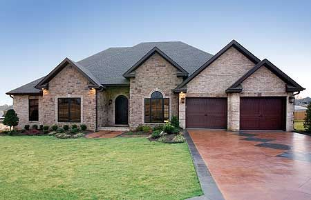 Plan 59811nd One Story House Plan With A Stately Brick Exterior Country Style House Plans French Country House Plans House Plans