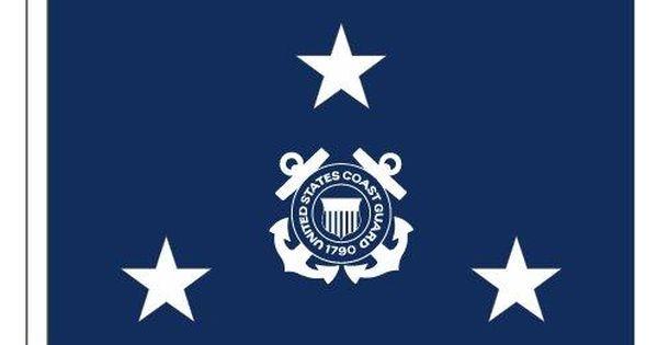 3ft X 5ft Coast Guard 3 Star Admiral Flag Display W Fringe Coast Guard Coast Guard Flag Coast
