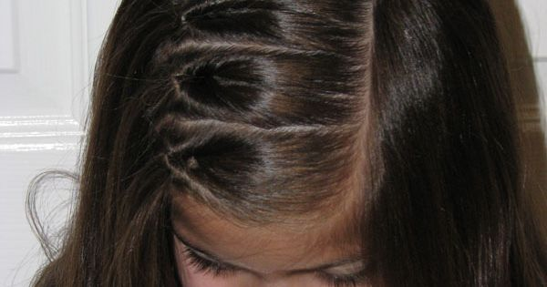 Lots of little girl hairdos. The knots are cute (link on main