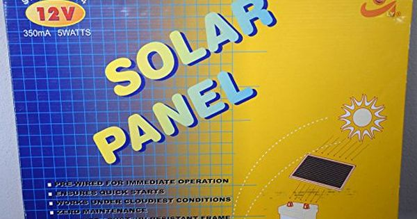 Ly Solar Panel 41144 12volt 5watt Amorphous Silicon Solar Module Click For Special Deals Solarpanels Solar Module Solar Panels Silicon Solar