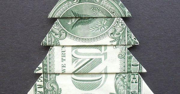 Dollar Bill Money Origami CHRISTMAS TREE