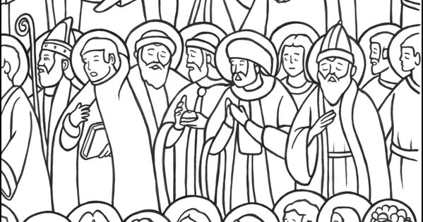 All Saints Day Coloring Page Catholic Saints Coloring