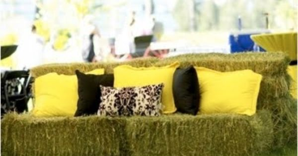 "cute ""couch"" for a farm wedding!"