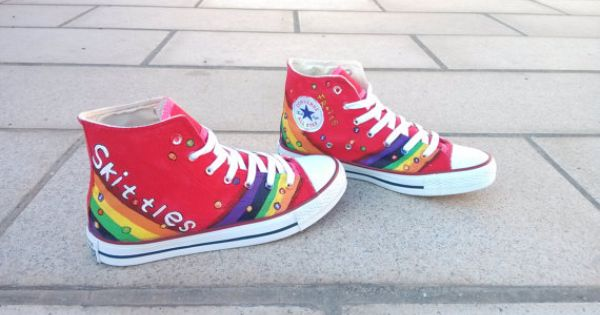 Skittles Shoes Custom Converse Converse By