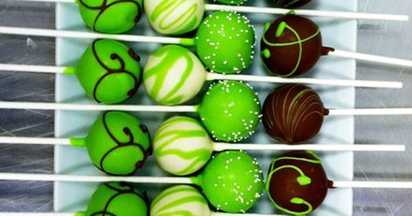 green cake pops love the color combo