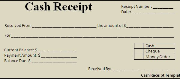 Cash Payment Receipt Template Free – Cash Receipt Voucher Word Format