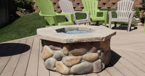 Arkansas River Rock Gas Fire Pit Pinterest