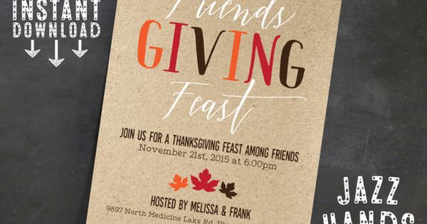 friendsgiving invitation template