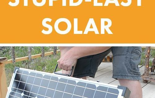 stupid easy portable solar panels for rv off grid boondocking camping wohnwagen mini. Black Bedroom Furniture Sets. Home Design Ideas