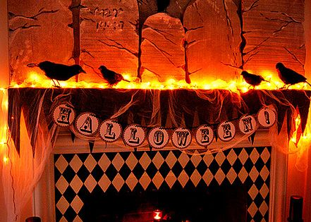 cool halloween decorations | 10 Cool Halloween Mantle Decorating Ideas | Halloween