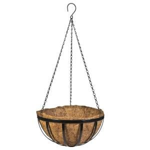 Vigoro 12 In Metal English Hanging Coco Basket Hpf12tbvg The Home Depot Hanging Baskets Metal Hanging Planters Plants For Hanging Baskets