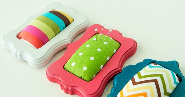 Mini Frame Pin Cushions {Tutorial} great gift idea