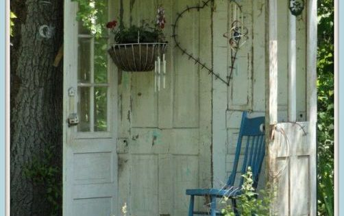 Old doors! If I have a home someday with enough outdoor space