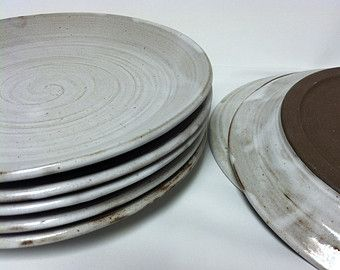 Pottery On Etsy A Global Handmade And Vintage Marketplace Ceramic Plates Pottery Handmade Dinnerware Handmade Ceramics Plates