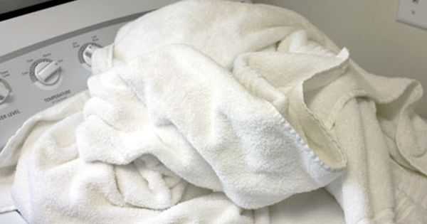 Deep clean for towels = 1 cup of white vinegar 1/2 cup