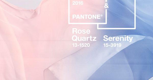 Les couleurs de lannée Pantone : Rose Quartz et Bleu Sérénité ...