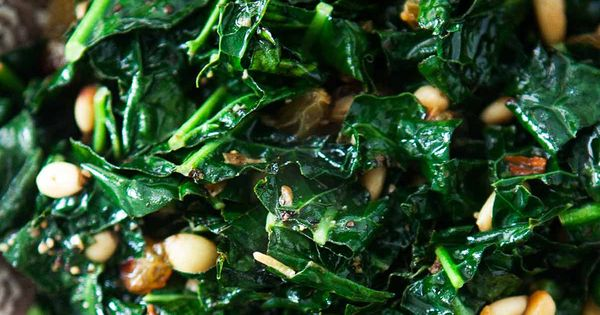 Greens with Pine Nuts and Raisins | Recipe | Pine, Collard Greens ...