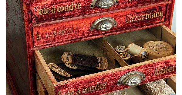 thread drawer storage box