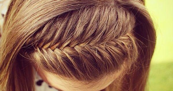DIY Frenchfishtail Braided Headband / Braided headbands /fishtail /curls DIY Youtube Hair