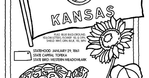 Kansas day coloring pages for kids ~ Kansas History | Social Studies | Pinterest | Coloring ...