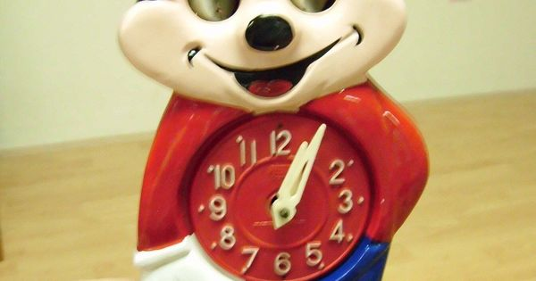Vintage Mi Ken Cuckoo Style Mickey Mouse Wall Clock For