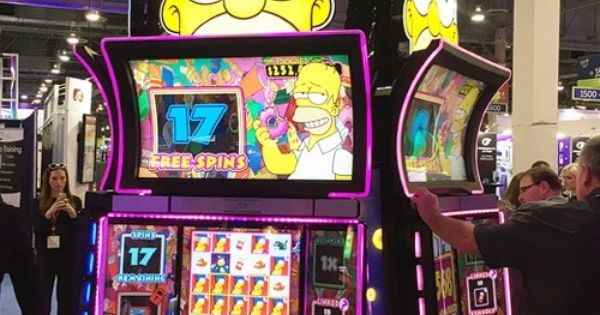 the simpsons slot machine
