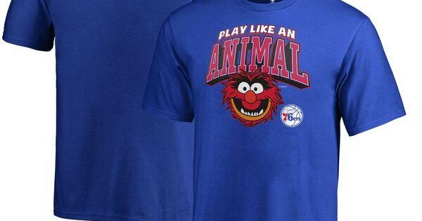Philadelphia 76ers Fanatics Branded Youth Disney Nba Muppets Play Like An Animal T Shirt Royal Phil Animal Tshirt Long Sleeve Tshirt Men Los Angeles Dodgers
