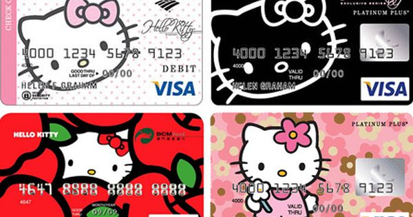 Hello Kitty Visa Cards With Images Hello Kitty Items Hello