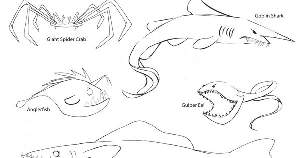 Coloring Page From The Kraken S Rules For Making Friends Coloring Pages Kraken Angler Fish