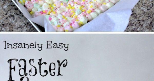 Easter Bunny Marshmallow Bark