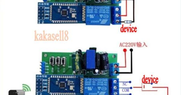 Wireless Bluetooth Relay Module Android Phone Remote