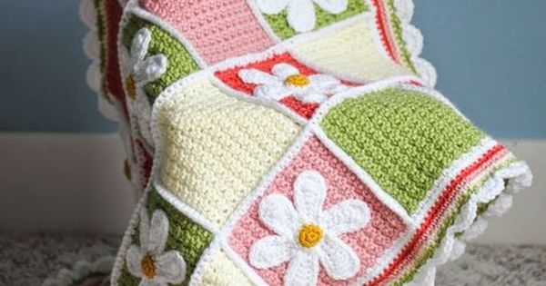 Daisy Baby Blanket Crochet Pattern Free Tutorial Afghan ...