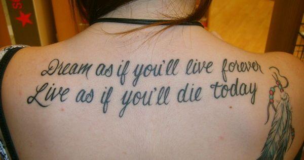 tattoos for emo girls | Dream Tattoo, Dream, Emo, Girl, Live, Message,