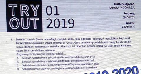 Soal Try Out Kelas 9 Bahasa Indonesia Edisi 2019 2020 Guru Sekolah Membaca